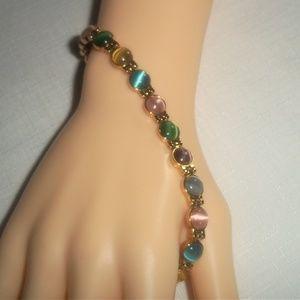 Jewelry - Opal 18K-Gold-Plated Copper Magnet Health Bracelet
